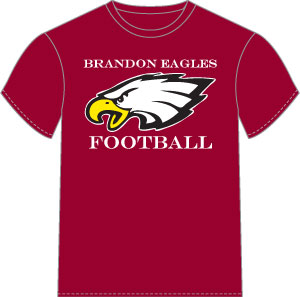 Maroon Dri-Fit Tee w/Eagle Logo - Men's