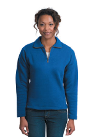 Ladies 1/4 Zip Sweatshirt - Royal