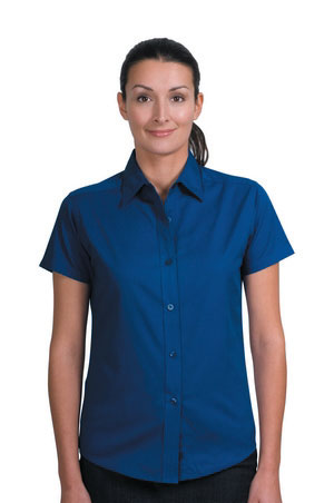 Ladies Short Sleeve Easy Care Shirt - Royal