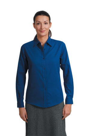 Ladies Long Sleeve Easy Care Shirt - Royal