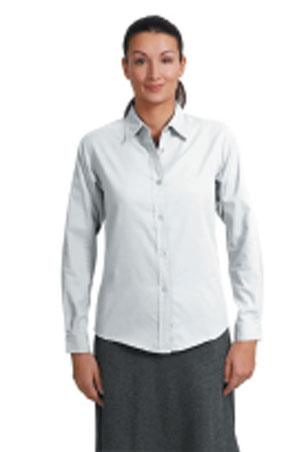 Ladies Long Sleeve Easy Care Shirt - White