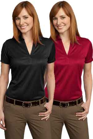 Giunta Ladies' Performance Fine Jacquard with Embroidered Logo