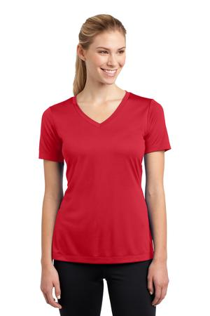 Ladies V-Neck tee w/heartwalk logo