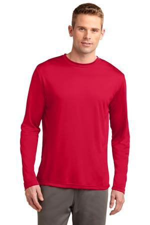 Men's long sleeve performance tee w/heartwalk logo