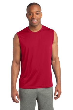 Men's performance sleeveless tee w/heartwalk logo